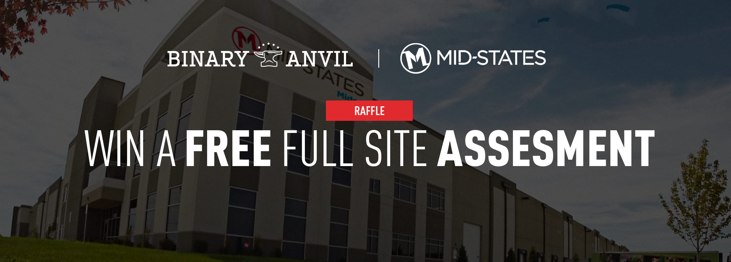 Win a free full site assessment banner